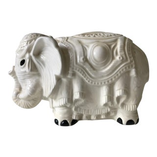 White Ceramic Elephant Statue
