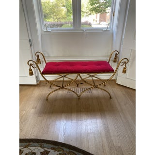 1950s Vintage Italian Gilt Rope and Tassel Bench Preview
