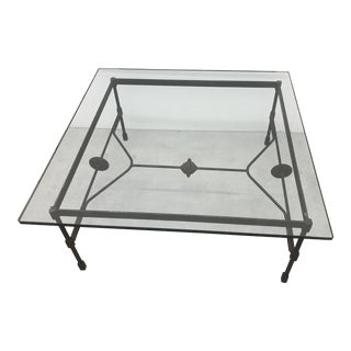 Organic Modern Classic Iron and Glass Coffee Table