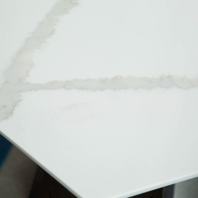 Carrara Marble-Topped Side Table by Gregory Clark For Sale In New York - Image 6 of 7