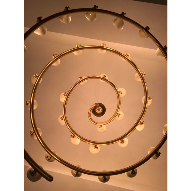 Gino Sarfatti for Arteluce Large Spiral Chandelier - Image 4 of 6