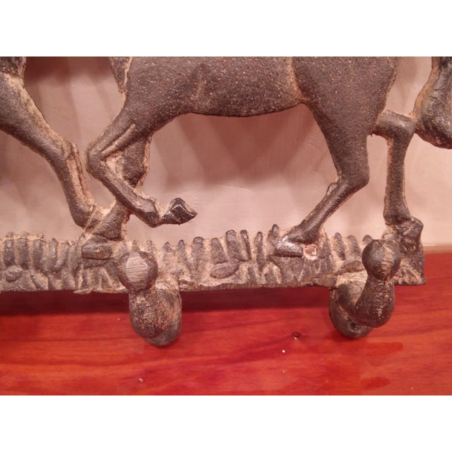 1980s Running Ponies Cast Iron Wall Rack For Sale - Image 5 of 10