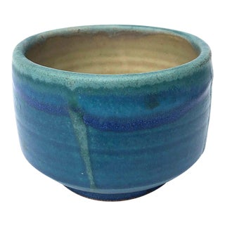 Vintage Mid-Century Glazed Studio Pottery Bowl / Planter For Sale