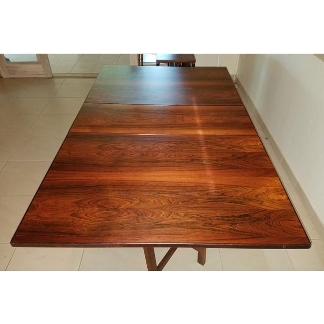 1970s Scandinavian Westnofa Rosewood Drop Leaf Banquet Dining Tables - a Pair For Sale - Image 9 of 10