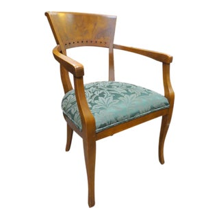 Vintage Biedermeier Style Armchair For Sale