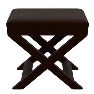 X Bench in Bittersweet Velvet For Sale