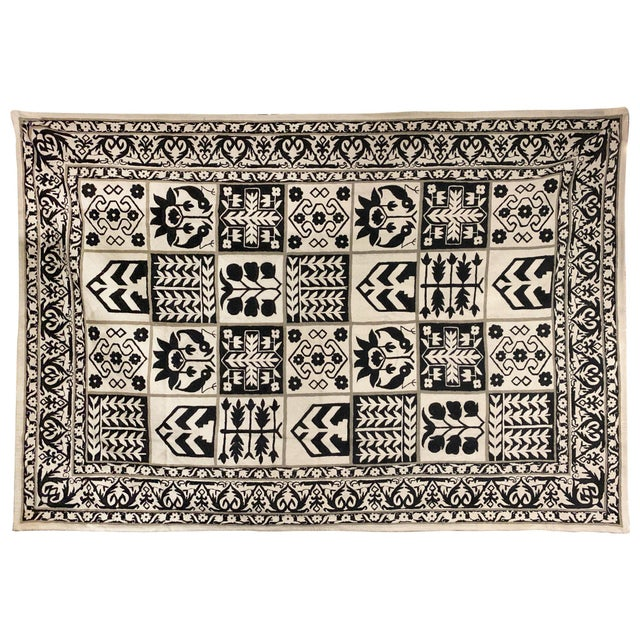 1970s Vintage Handwoven Rug - 6′ × 8′10″ For Sale - Image 11 of 11