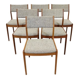Set of 6 Mid-Century Danish Scandinavian Modern Teak Side Dining Chairs For Sale
