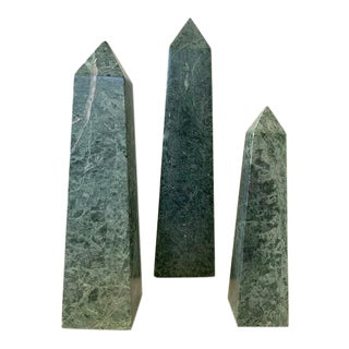 Mid Century Italian Marble Obelisks - Set of 3 For Sale