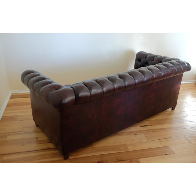 Magnificent Modern Wine Colored Leather Chesterfield Uwap Interior Chair Design Uwaporg