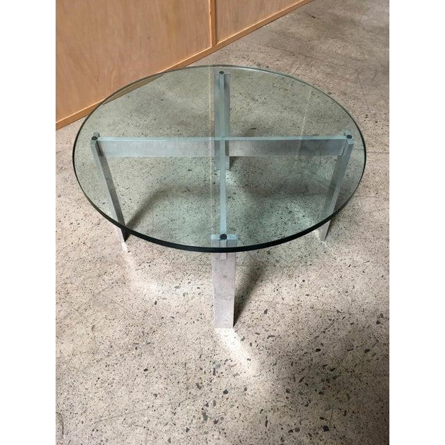Paul Mayen Paul Mayen for Habitat Aluminum X Base Side Table For Sale - Image 4 of 9