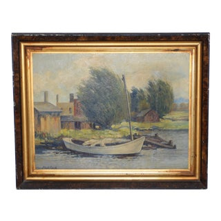 Vintage 1930s Impressionist Oil Painting by Phil Cook For Sale