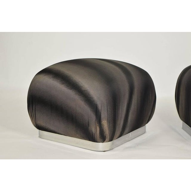 Pair of Souffle Poufs by Weiman - Image 6 of 8