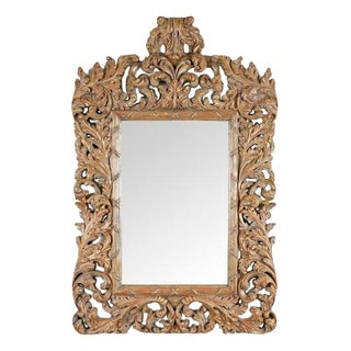 Italian Carved Caravaggio Mirror by Randy Esada Designs for Prospr For Sale