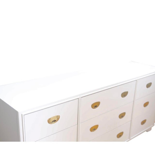 Wonderful and fresh, this newly lacquered Canpaign Dresser in crisp white is exquisitely well-made, as one expects from...