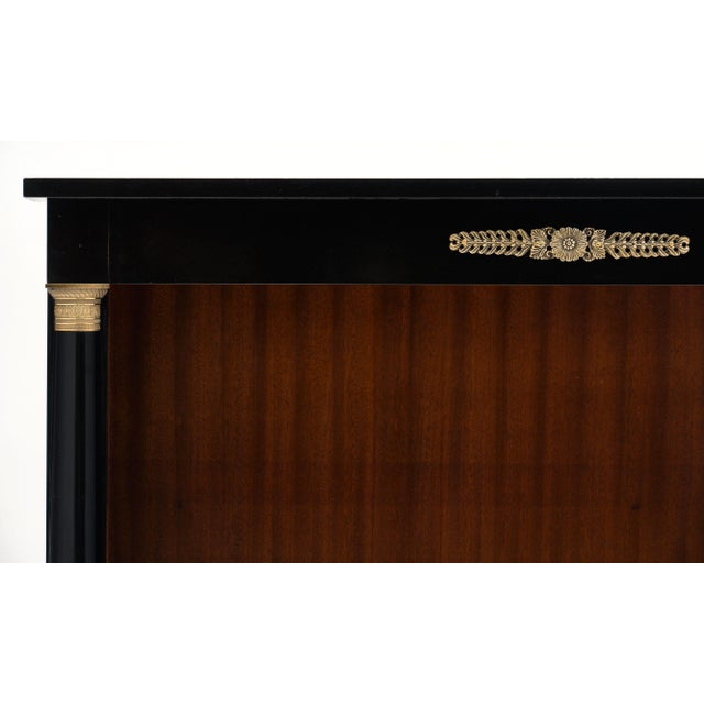 French Empire Style Ebonized Bookcase For Sale In Austin - Image 6 of 10