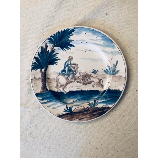 Mid 18th Century 18th Century Niderviller Faience Plate For Sale - Image 5 of 5