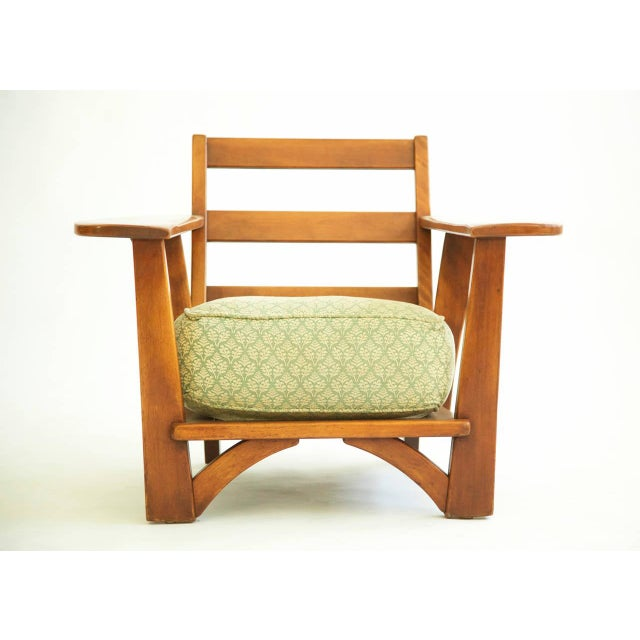 Herman DeVries for Cushman of Vermont lounge chair. Solid maple with original upholstery. Sold separately and pictured in...
