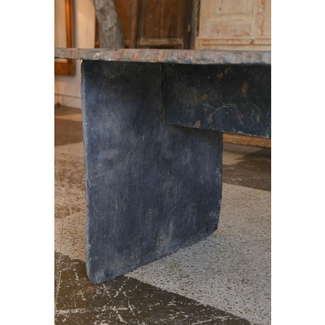 Long Slate Center Table For Sale In Houston - Image 6 of 10