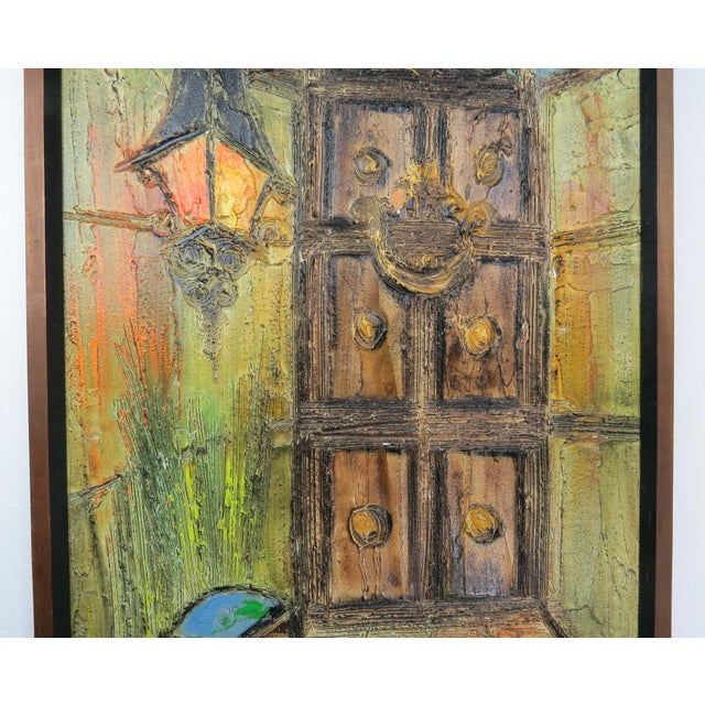 Mid-Century Modern Original Mid-Century Gothic Painting on Board by Van Hoople For Sale - Image 3 of 13