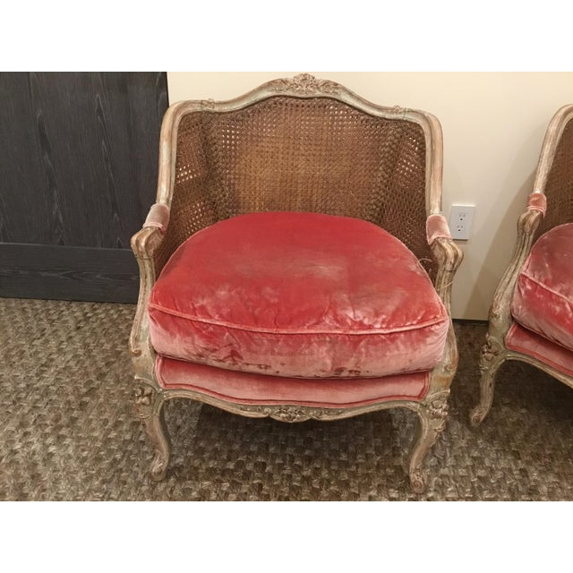French Late 18th Century French Cane Bergere Chairs- a Pair For Sale - Image 3 of 13