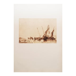 1959 Richard P. Bonington, Coastal Scene Hungarian Lithograph For Sale