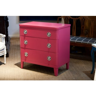 Mid Century Modern Three Drawer Chest by Simmons in Peony Preview