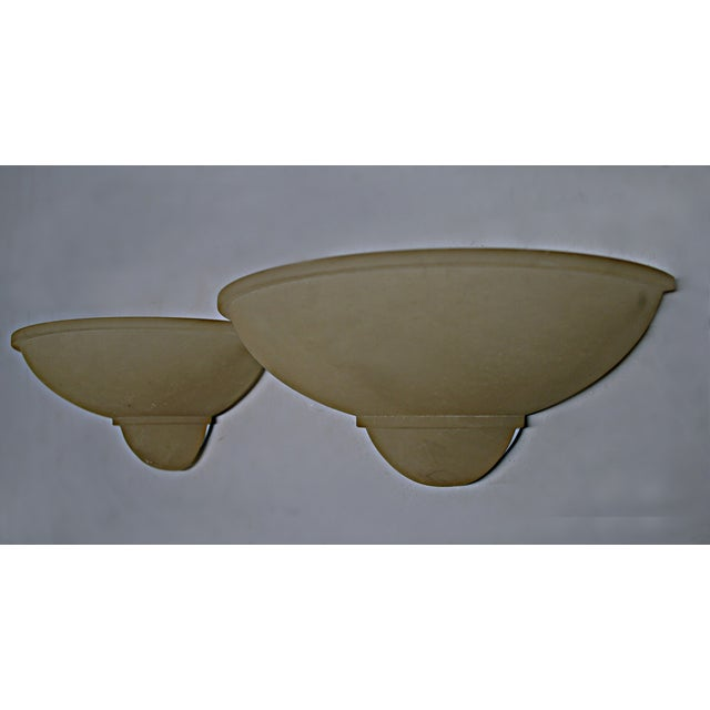 Art Deco Style Alabaster Sconces - A Pair - Image 6 of 7