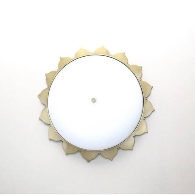 Open Box Visual Comfort Rachel Large Flush Mount DESIGNER: ALEXA HAMPTON Retail $819.00 Finish: Natural Brass Shade: White...