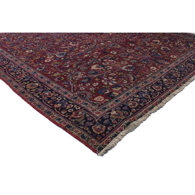74286 Antique Persian Mashad Runner with Old World Style, Extra Long Hallway Runner. With opulent jewel-tones and decadent...