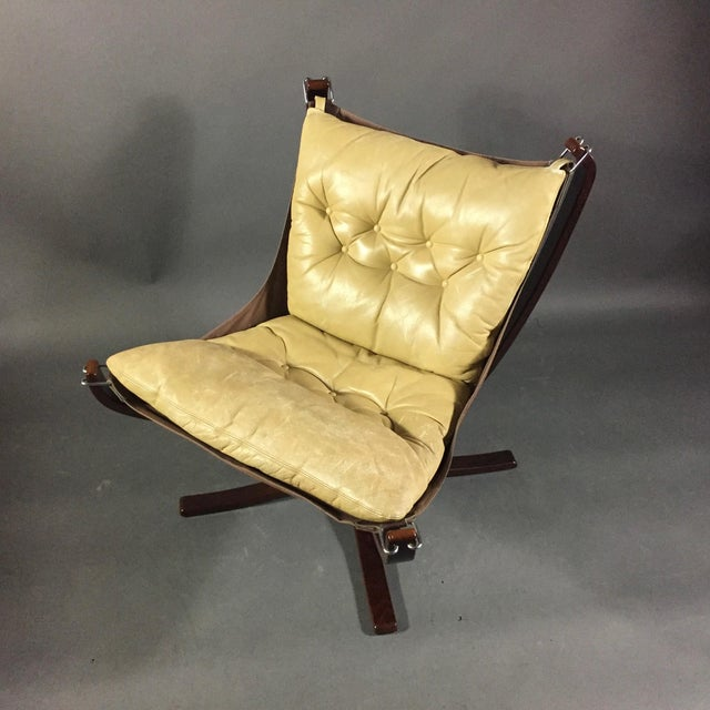"""1970s Sigurd Ressell Yellow """"Falcon"""" Low Back Lounge Chair, 1970s For Sale - Image 5 of 12"""