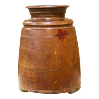 Large Tribal Wooden Pot For Sale