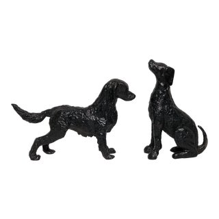 Cast Iron Hunting Dogs - A Pair