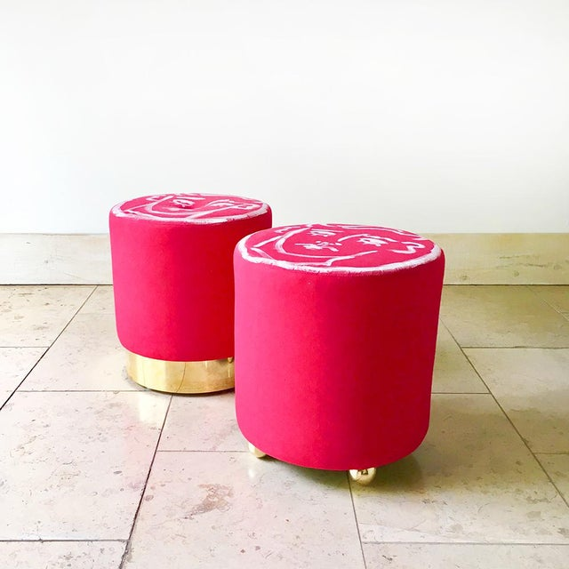 Edward Hall Hand Painted Maud Stool by Talisman Bespoke For Sale - Image 6 of 7