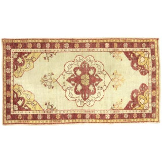 "1950s Turkish Oushak Rug - 2'5"" X 4'4"" For Sale"