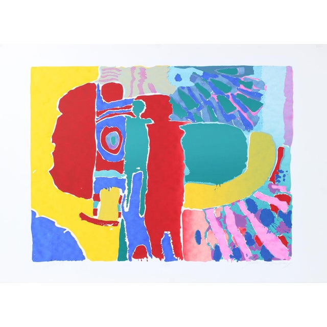 """Abstract """"Target Man (Red Man)"""" Abstract Figures Silkscreen, C. 1975 For Sale - Image 3 of 3"""