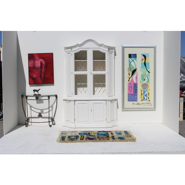 Late 20th Century modern Henri Matisse art print with brushed silver frame. Please note: If you are out of the US and...
