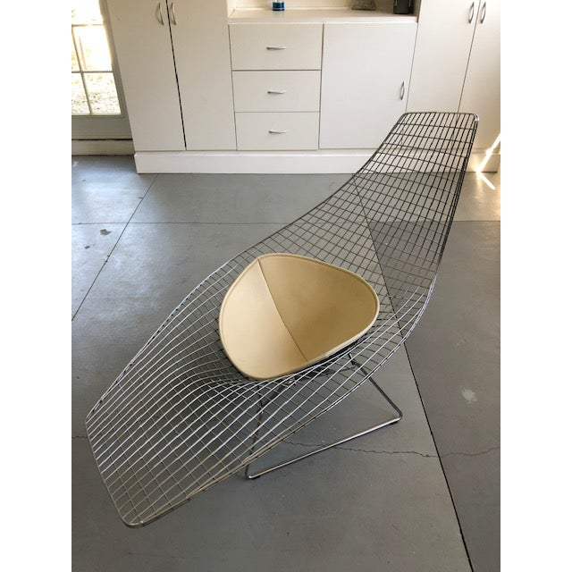 Silver Bertoia for Knoll Asymmetric Chaise For Sale - Image 8 of 8
