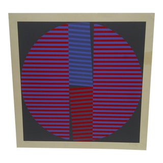 """Limited Numbered (78/100) Signed Print """"Broken Circle"""" by T. Aluero, 1972 For Sale"""
