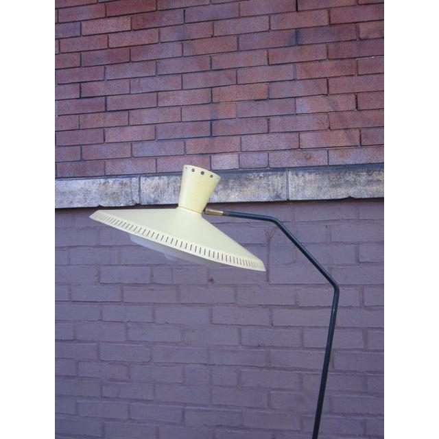 Large 5 Foot High 1950s Italian Modernist Mid-Century Modern Atomic Era Floor Lamp For Sale - Image 10 of 13
