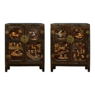 Asian Coromandel Cabinets - A Pair For Sale