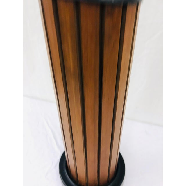 Vintage Mid Century Wood Panel Table Lamp For Sale In Raleigh - Image 6 of 7