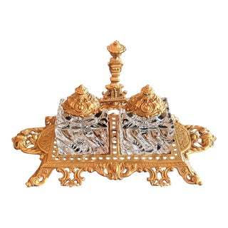 Baccarat Louis XVI Style Inkstand For Sale