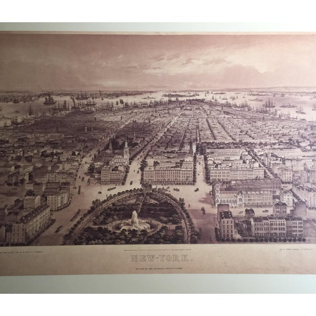Historic Maps Views of New York Coffee Table Book For Sale - Image 4 of 8