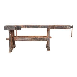 Antique Czech Carpenter's Workbench For Sale