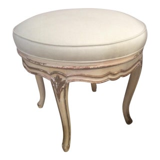 Painted French Louis XV Style Bench For Sale