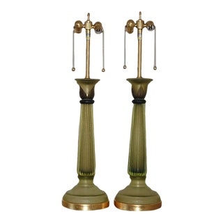 Marbro Murano Column Lamps by Cenedese For Sale