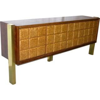 1940s Minimalist Dark & Light Palisander Wood Sideboard For Sale