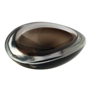 1970s Mid-Century Modern R. Austin Charcoal Glass Bowl