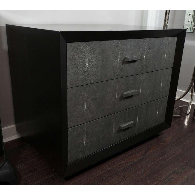 2010s Custom Shagreen Drawer Front Dressers For Sale - Image 5 of 5